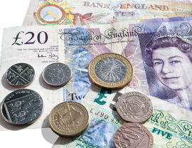 The UK currency is called the pound.