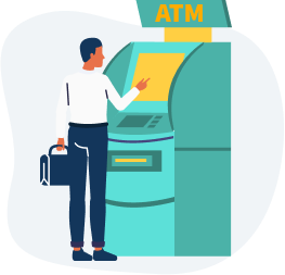 Currency in Canada is available through ATMs