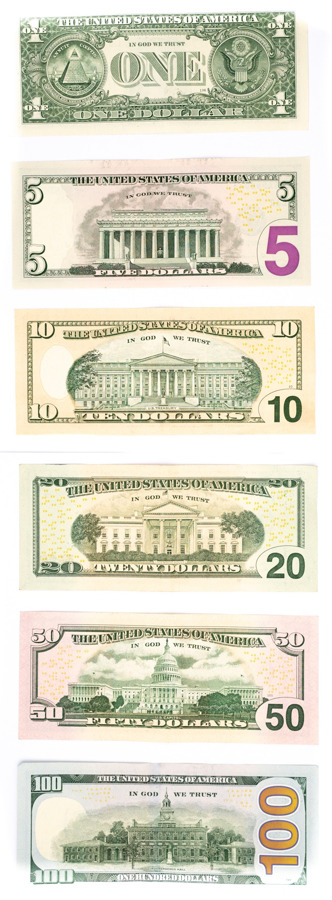 US Currency - US Dollars Backs