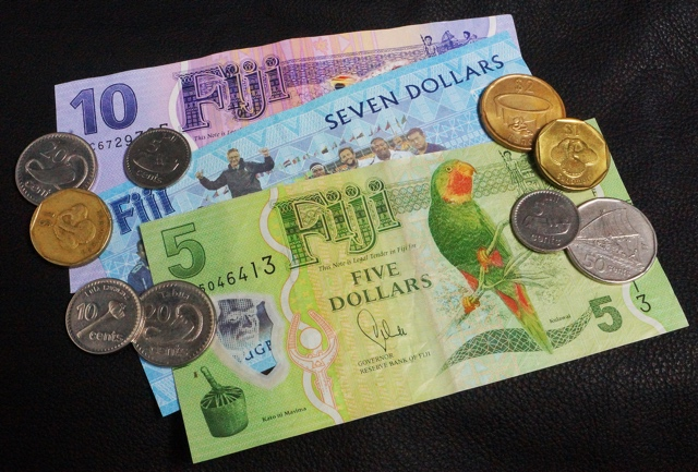 Fiji currency FJD banknotes and coins