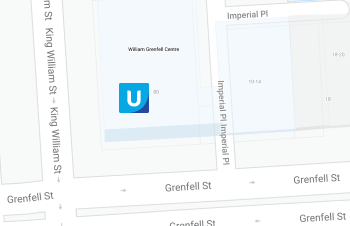 Map of King William Street in Adelaide