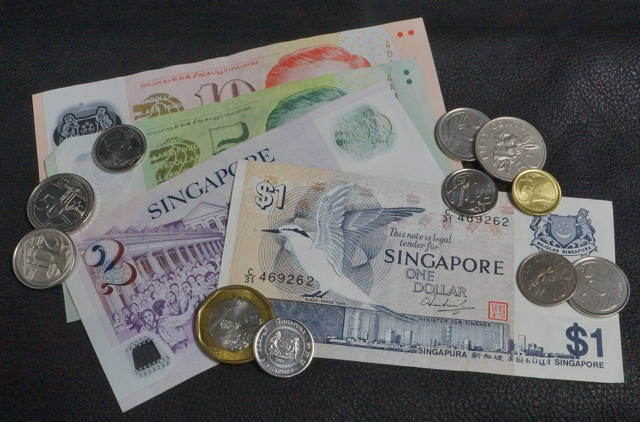 Singapore Dollar SGD banknotes and coins
