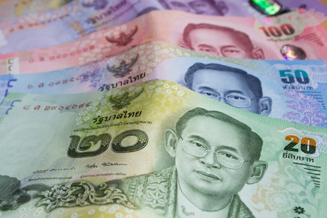 Thai baht THB banknotes