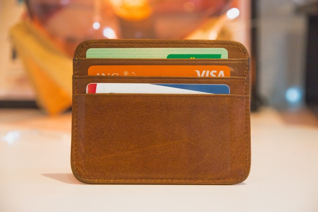 wallet with cards