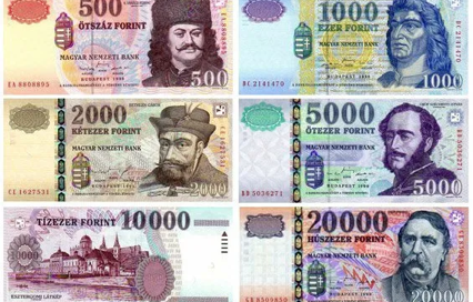 Currency in Hungary Forint Banknotes