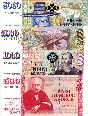 The official currency of Iceland is the Icelandic Krona.
