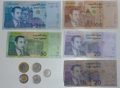 The official currency of Morocco is the Morocco dirham.