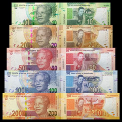 The official currency of South Africa is the South African Rand.