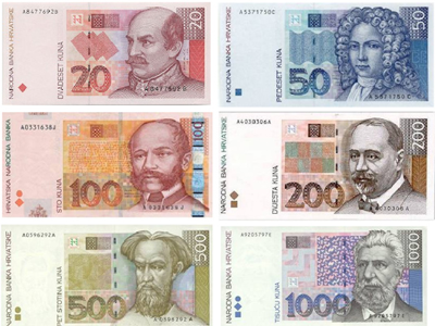 The official currency of Croatia is the Kuna.