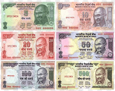 The currency of India is the rupee.