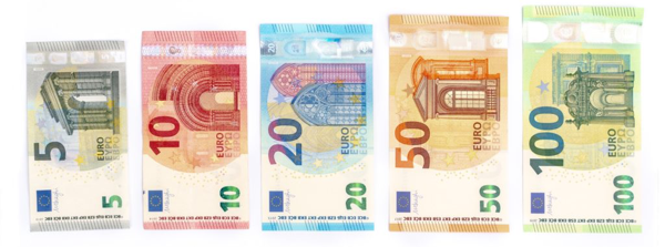 Euros Banknotes consist of €5, €10, €20, €50, €100 and €200