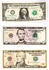 US dollar banknotes consist of $1, $2, $5, $10, $20, $50 & $100