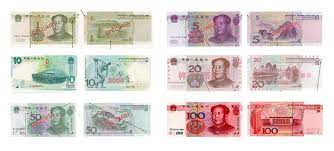 Chinese Yuan banknotes consist of ¥0.1, ¥0.5, ¥1, ¥5, ¥10, ¥20, ¥50 and ¥100
