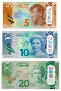 Canadian dollar banknotes consist of $5, $10, $20, $50 and $100