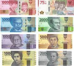 Indian Rupee banknotes consist of Rp 1000, Rp 2000, Rp 5000, Rp 10000, Rp 20000, Rp 50000, Rp 100000.