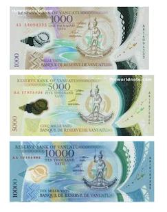 Vanuatu Vatu banknotes consist of 200VT, 500VT, 1000VT, 2000VT, 5000VT and10000VT