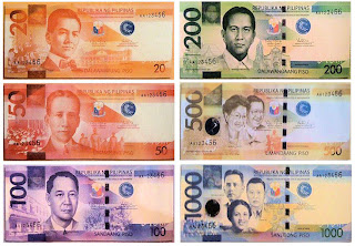 The currency in Philippines is the Peso.