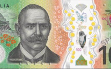 new 100 hundred Australian dollar bill